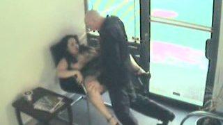 Barbershop webcam shot a hard-nosed couple sex