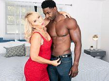 59 yo blonde milf fucked hard by big black cock